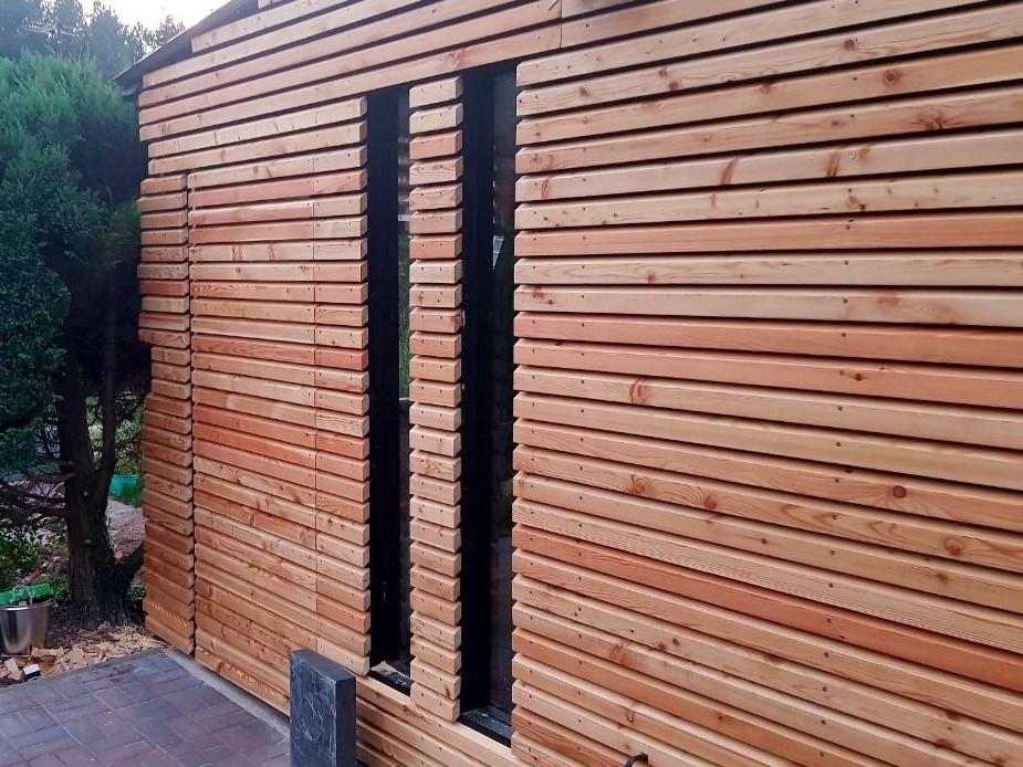 rhombusleisten 27x70 mm sibirische l rche rauten fassadenschalung profilholz terrassen meister. Black Bedroom Furniture Sets. Home Design Ideas
